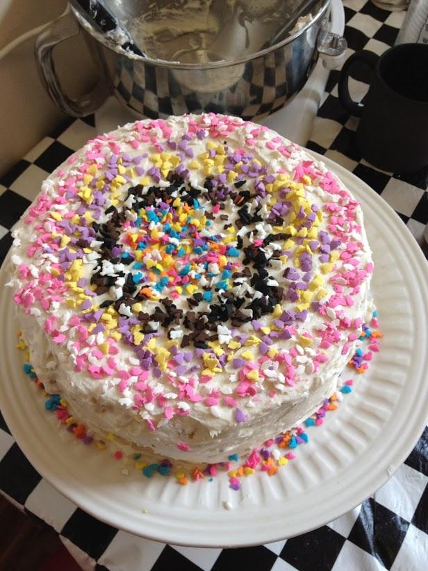 Sylvie's first cake